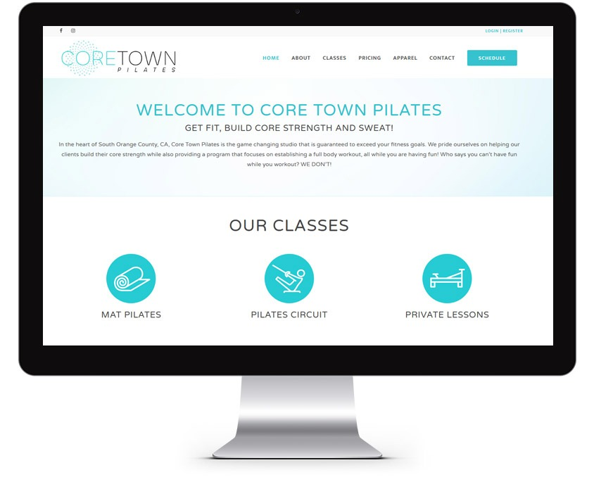 Pilates Web Design Company